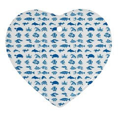 Fish Pattern Ornament (heart) by ValentinaDesign