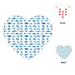 Fish Pattern Playing Cards (heart)  by ValentinaDesign