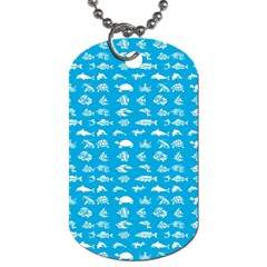Fish Pattern Dog Tag (two Sides) by ValentinaDesign