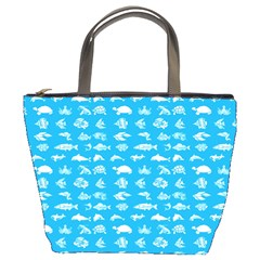 Fish Pattern Bucket Bags by ValentinaDesign