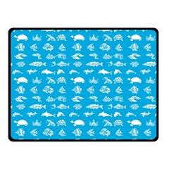 Fish Pattern Fleece Blanket (small) by ValentinaDesign