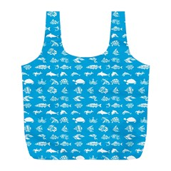 Fish Pattern Full Print Recycle Bags (l)  by ValentinaDesign