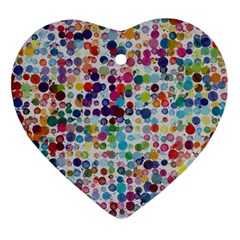 Colorful Splatters               Ornament (heart) by LalyLauraFLM