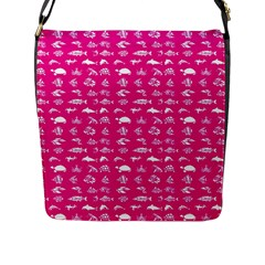 Fish Pattern Flap Messenger Bag (l)  by ValentinaDesign