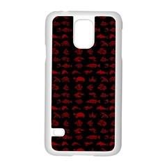 Fish Pattern Samsung Galaxy S5 Case (white) by ValentinaDesign