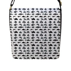 Fish Pattern Flap Messenger Bag (l)  by ValentinaDesign