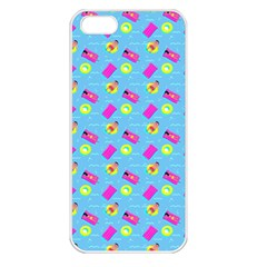 Summer Pattern Apple Iphone 5 Seamless Case (white) by ValentinaDesign