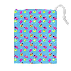 Summer Pattern Drawstring Pouches (extra Large) by ValentinaDesign