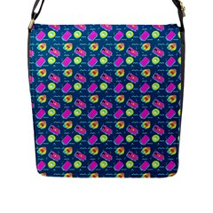 Summer Pattern Flap Messenger Bag (l)  by ValentinaDesign