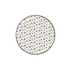 Dinosaurs Pattern Hat Clip Ball Marker by ValentinaDesign