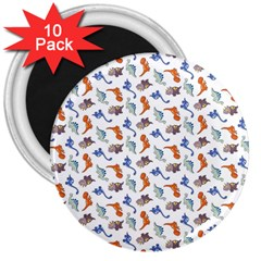 Dinosaurs Pattern 3  Magnets (10 Pack)  by ValentinaDesign
