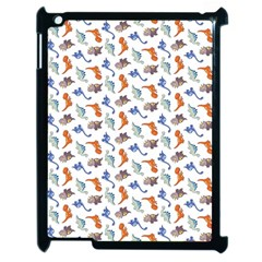 Dinosaurs Pattern Apple Ipad 2 Case (black) by ValentinaDesign