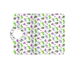 Dinosaurs Pattern Kindle Fire Hd (2013) Flip 360 Case by ValentinaDesign
