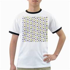 Dinosaurs pattern Ringer T-Shirts by ValentinaDesign
