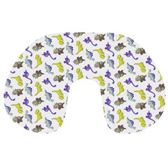 Dinosaurs Pattern Travel Neck Pillows by ValentinaDesign
