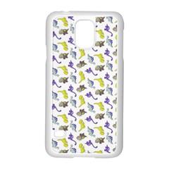 Dinosaurs Pattern Samsung Galaxy S5 Case (white) by ValentinaDesign