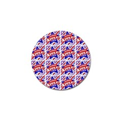 Happy 4th Of July Theme Pattern Golf Ball Marker (10 Pack) by dflcprints