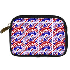 Happy 4th Of July Theme Pattern Digital Camera Cases by dflcprints