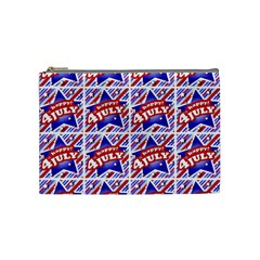 Happy 4th Of July Theme Pattern Cosmetic Bag (medium)  by dflcprints