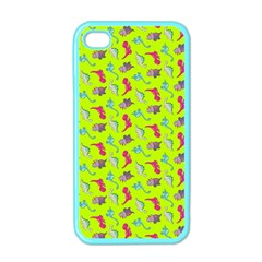 Dinosaurs Pattern Apple Iphone 4 Case (color) by ValentinaDesign