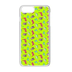 Dinosaurs pattern Apple iPhone 7 Plus White Seamless Case by ValentinaDesign