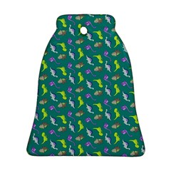 Dinosaurs pattern Bell Ornament (Two Sides)