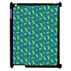 Dinosaurs Pattern Apple Ipad 2 Case (black) by ValentinaDesign