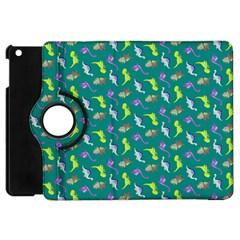 Dinosaurs Pattern Apple Ipad Mini Flip 360 Case by ValentinaDesign