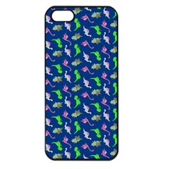 Dinosaurs Pattern Apple Iphone 5 Seamless Case (black) by ValentinaDesign
