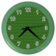 Pattern Color Wall Clocks by ValentinaDesign