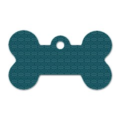 Pattern Dog Tag Bone (two Sides) by ValentinaDesign