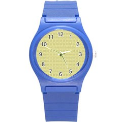 Pattern Round Plastic Sport Watch (s) by ValentinaDesign