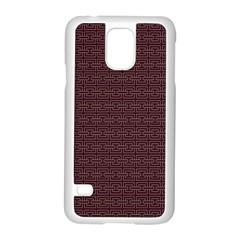Pattern Samsung Galaxy S5 Case (white) by ValentinaDesign
