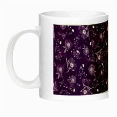 Floral Pattern Night Luminous Mugs by ValentinaDesign