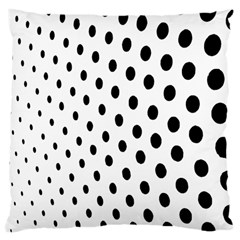 Polka Dot Black Circle Large Cushion Case (two Sides) by Mariart
