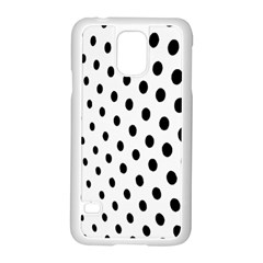 Polka Dot Black Circle Samsung Galaxy S5 Case (white) by Mariart