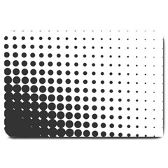 Comic Dots Polka Black White Large Doormat  by Mariart
