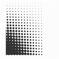 Comic Dots Polka Black White Large Garden Flag (two Sides) by Mariart