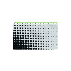 Comic Dots Polka Black White Cosmetic Bag (xs) by Mariart