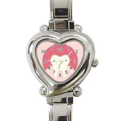Sad Tooth Pink Heart Italian Charm Watch by Mariart