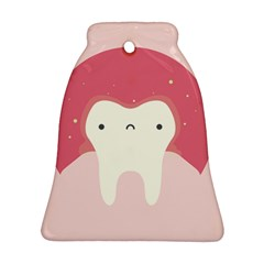 Sad Tooth Pink Bell Ornament (two Sides) by Mariart