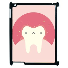 Sad Tooth Pink Apple Ipad 2 Case (black) by Mariart