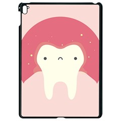 Sad Tooth Pink Apple Ipad Pro 9 7   Black Seamless Case