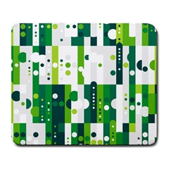 Generative Art Experiment Rectangular Circular Shapes Polka Green Vertical Large Mousepads by Mariart