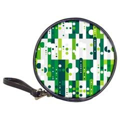 Generative Art Experiment Rectangular Circular Shapes Polka Green Vertical Classic 20 Cd Wallets by Mariart