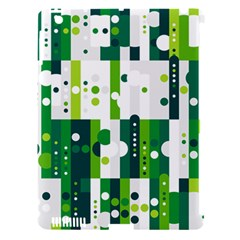 Generative Art Experiment Rectangular Circular Shapes Polka Green Vertical Apple Ipad 3/4 Hardshell Case (compatible With Smart Cover) by Mariart
