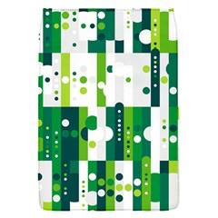 Generative Art Experiment Rectangular Circular Shapes Polka Green Vertical Flap Covers (s)  by Mariart