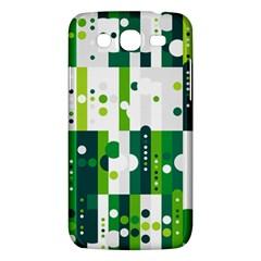 Generative Art Experiment Rectangular Circular Shapes Polka Green Vertical Samsung Galaxy Mega 5 8 I9152 Hardshell Case  by Mariart