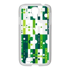 Generative Art Experiment Rectangular Circular Shapes Polka Green Vertical Samsung Galaxy S4 I9500/ I9505 Case (white) by Mariart