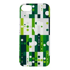 Generative Art Experiment Rectangular Circular Shapes Polka Green Vertical Apple Iphone 5s/ Se Hardshell Case by Mariart